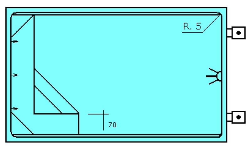 Piscine rectangular en polyester Graf Banyoles