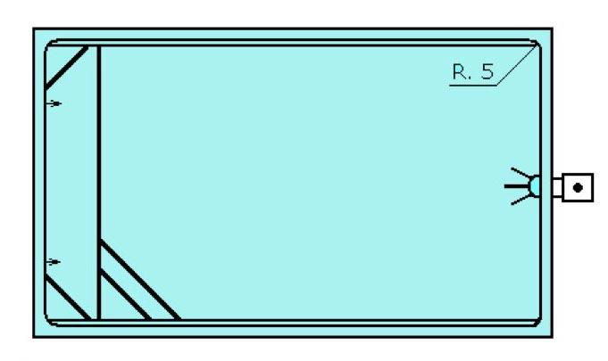 Piscine rectangular en polyester Graf Pals