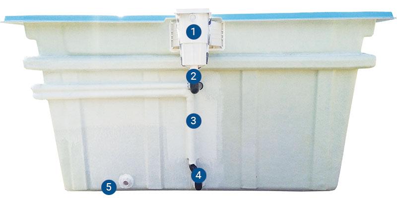 Pre instal·lació de tubs de piscina
