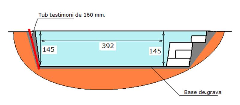 Piscina de poliéster Graf Xelida excavació base