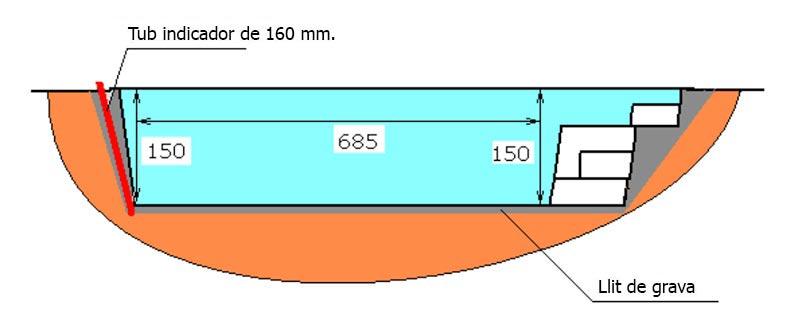 Excavació piscina de polièster Graf Tossa