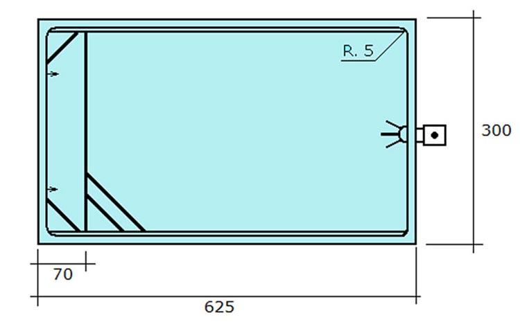 Piscina de polièster rectangular Cadaqués