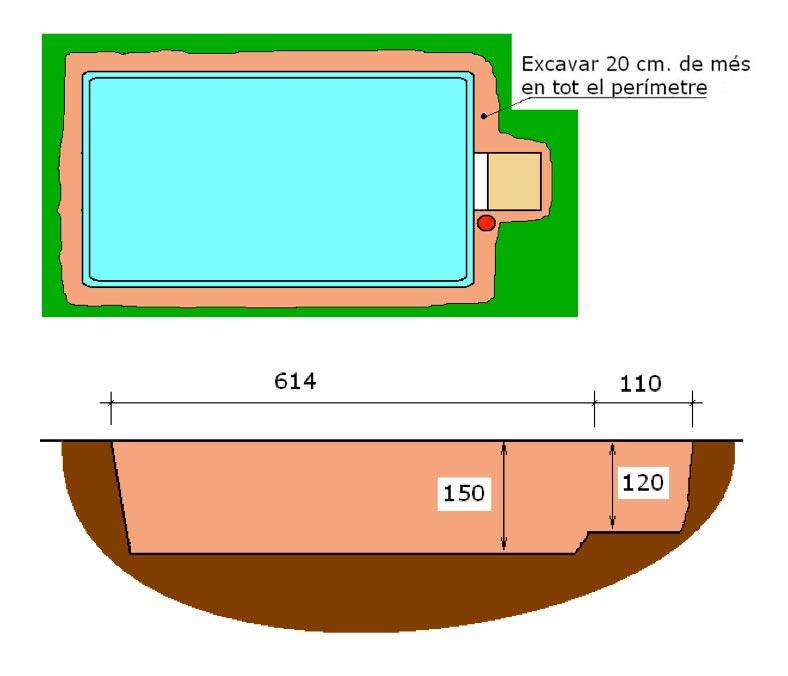 Excavació filtració integral piscina Graf 55