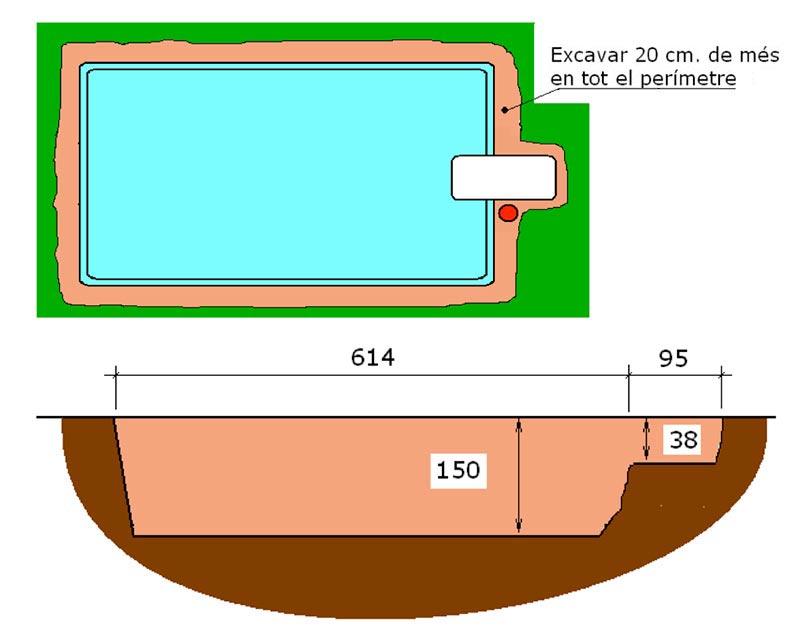 Excavació filtració tècnic graf piscina Graf 55