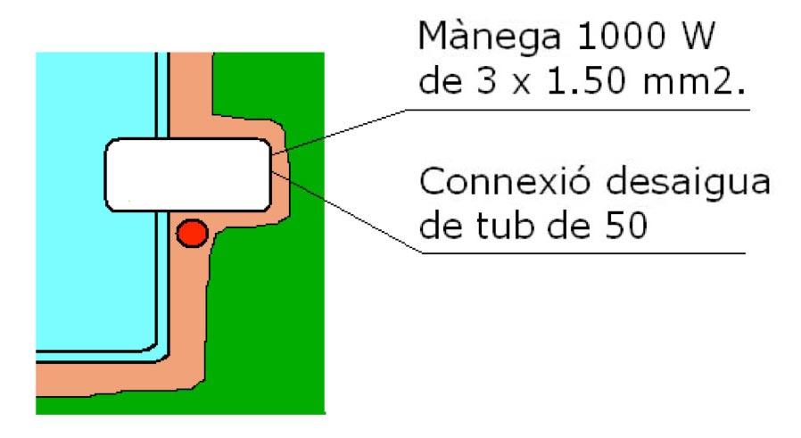 Connexions piscina polièster filtració tecnic Graf