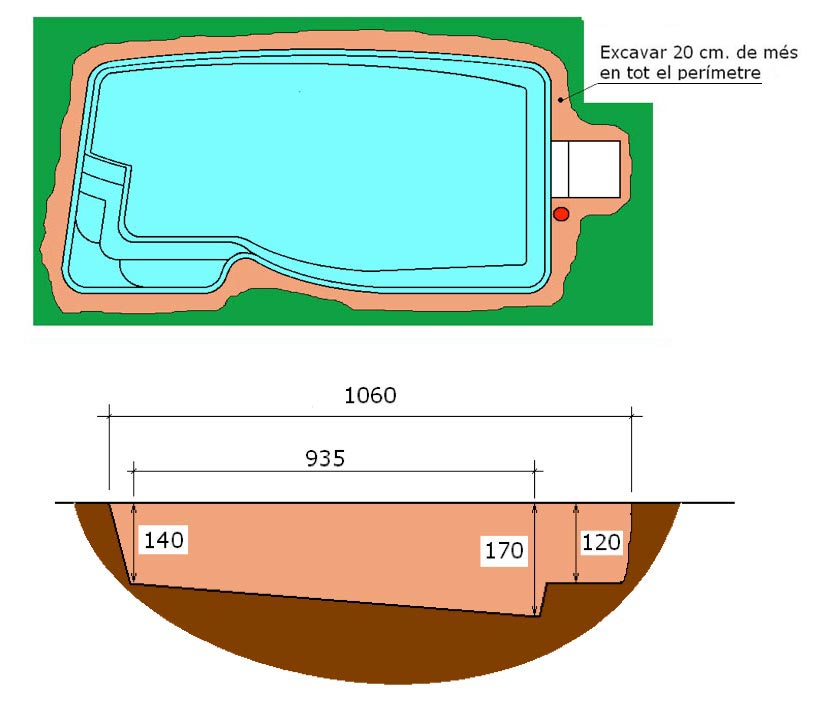 Excavació integral piscina Pandora Graf 106