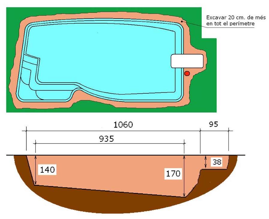 Excavació tècnic graf piscina Pandora Graf 106