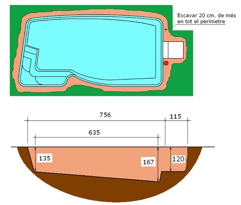Excavació integral piscina Pandora Graf 76