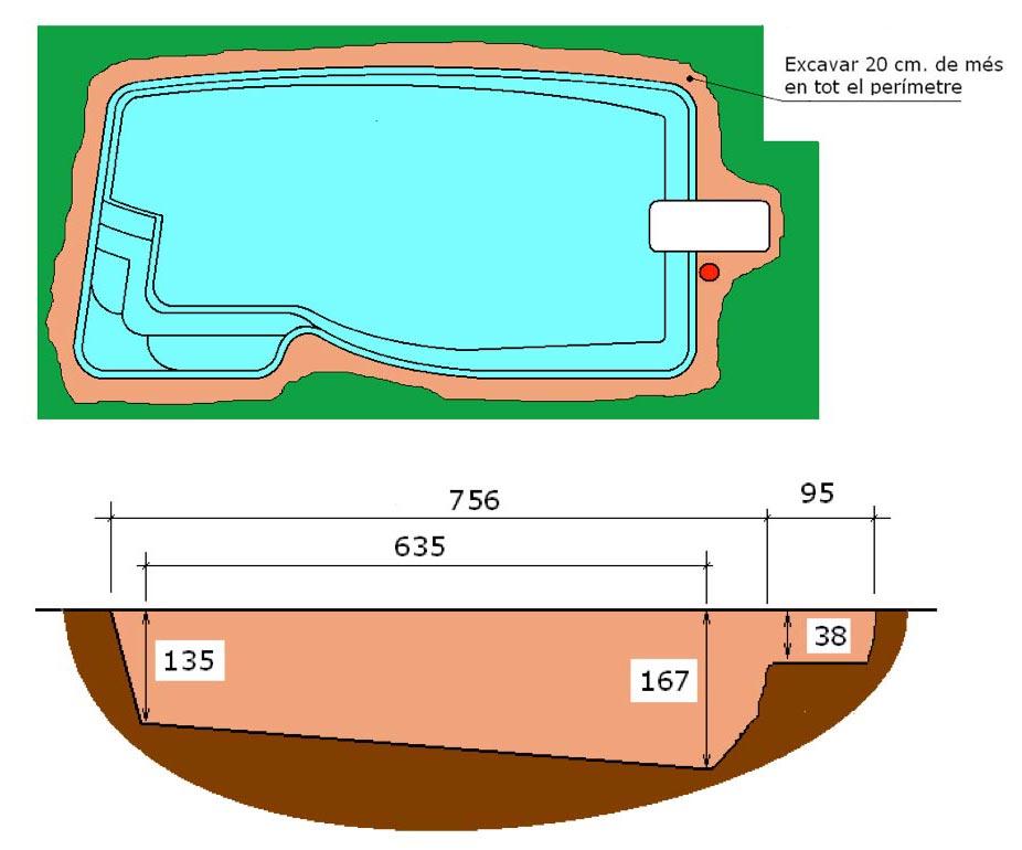Excavació tècnic graf piscina Pandora Graf 76