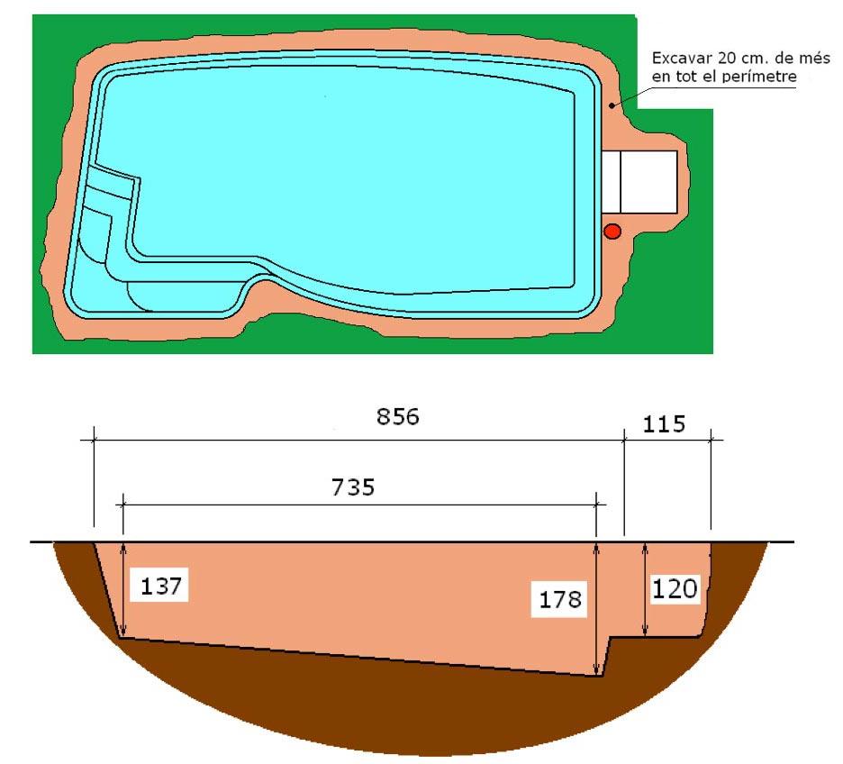 Excavació integral piscina Pandora Graf 86