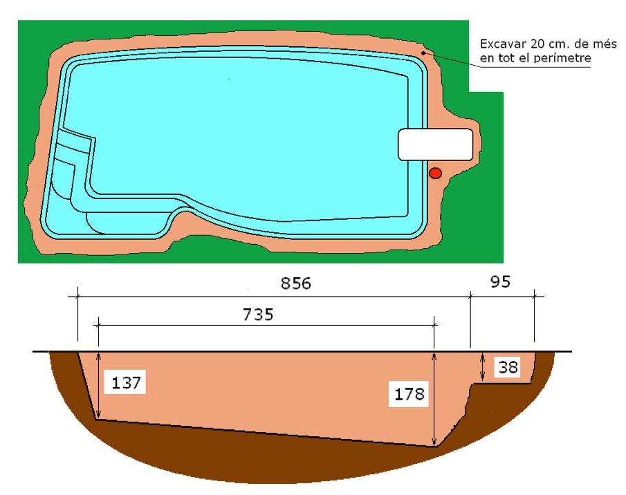 Excavació tècnic graf piscina Pandora Graf 86