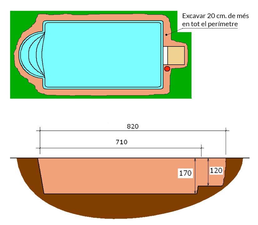 Piscina de polièster Romana Graf 60 excavació integral