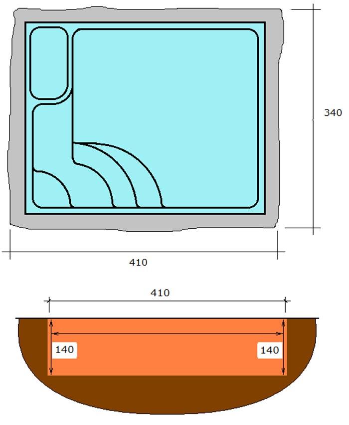 Piscina rectangular de polièster Graf Montgo